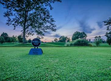 evening picture of the golf course